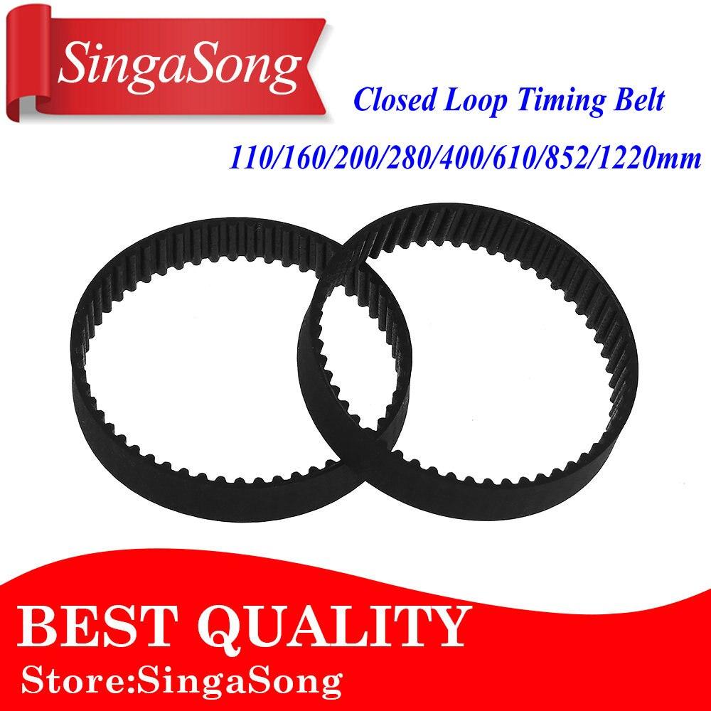 BEMONOC 2GT Timing Belt 156-2GT-6 L=156mm W=6mm 78 Teeth Small Rubber Timing Belt in Closed Loop for 3D Printer Pack of 10pcs