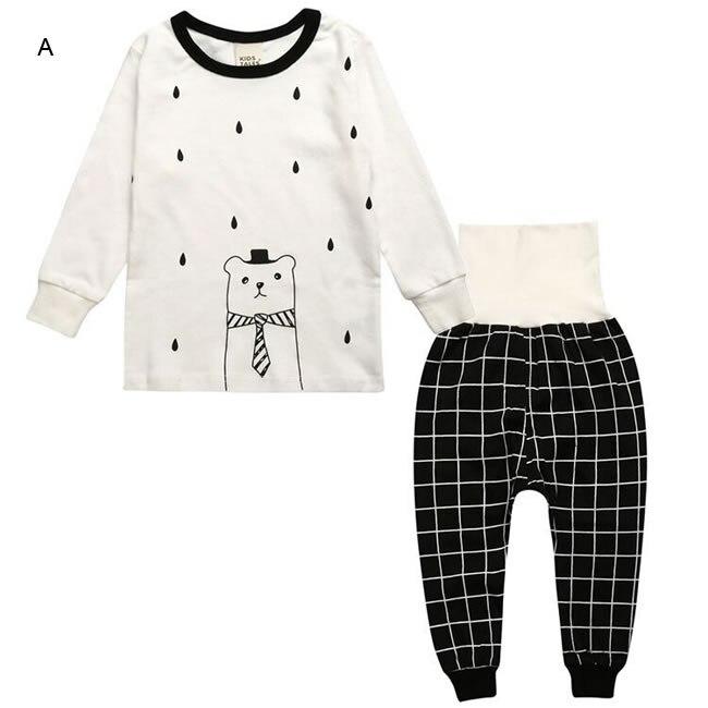 e6475b77d Christmas Birthday Outfits For Baby Girl Boy Pajamas Clothing Rabbit ...