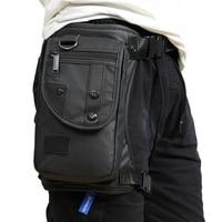 Men Fashion High Quality Waterproof Oxford Military Leg Drop Bag Fanny Pack Motorcycle Rider Travel Waist
