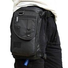Bolsa cartuchera Oxford/Nailon/lona para hombre, riñonera, muslo, cinturón de cadera, bolso de hombro, informal, motociclismo, viaje, Militar