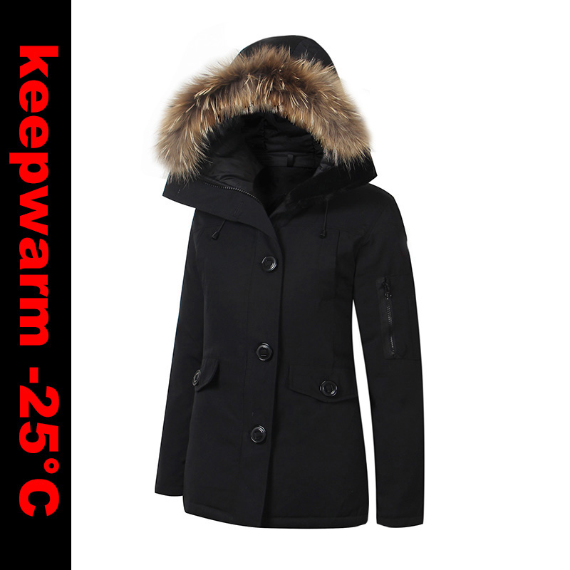 2018 Brand New Womens Winter Warm Duck   Down     Coat   Waterproof Windstopper MonteBello Parka Real Raccoon Fur