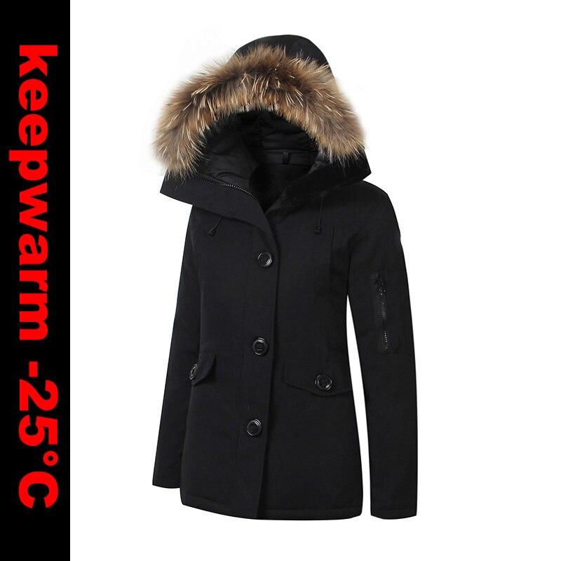 CANADA USA STYLE NO Brand LOGO New Womens Winter Warm Duck   Down     Coat   Waterproof Windstopper MonteBello Parka Real Raccoon Fur