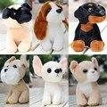 De 1 pc 20 cm bonito boneca de pelúcia mini cão schnauzer bulldog chihuahua Husky simulação novidade crianças brinquedo de pelúcia