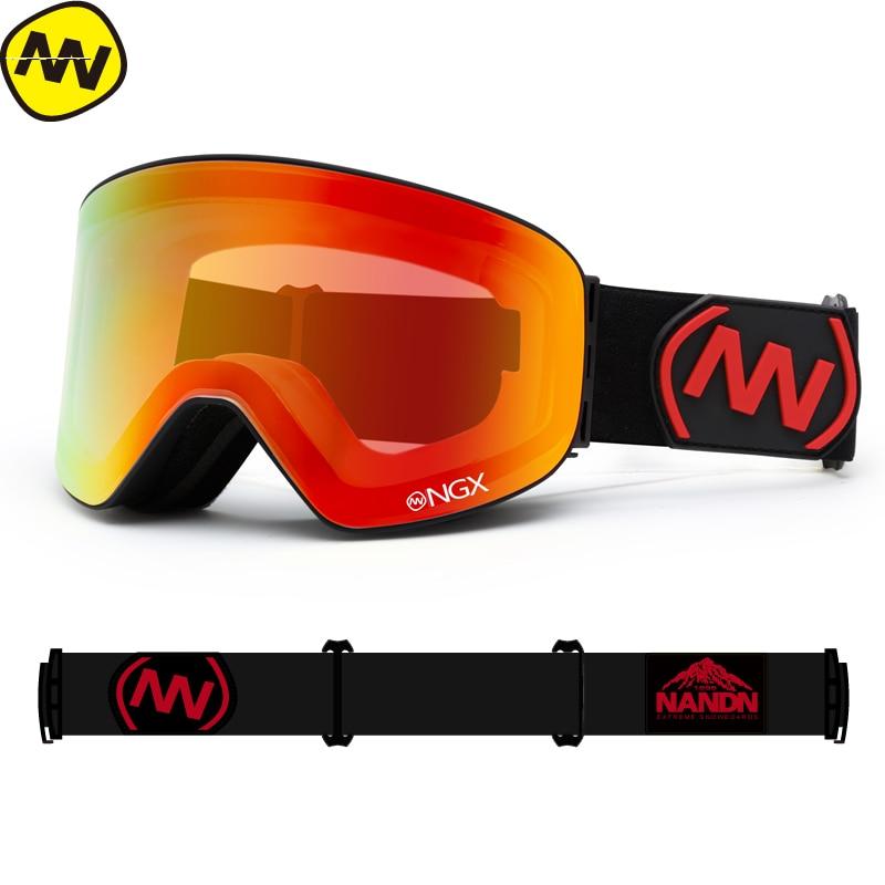 07e6cc1f354e0 NANDN nieve gafas de esquí de las mujeres de los hombres doble lente UV400  Anti niebla gafas de esquí nieve gafas adultos esquí SnowBOARD gafas en  Gafas de ...