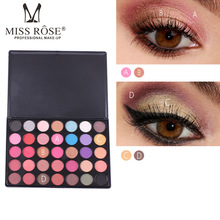 MISS ROSE 35-Color Pearlescent Matte Eyeshadow Smoked Professional Makeup Multicolor Eyeshadow Palette стоимость
