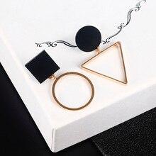 Новые модные геометрические серьги-гвоздики для женщин, Круглый треугольный дизайн, элегантные серьги на день рождения, подарок на свадьбу, Brincos