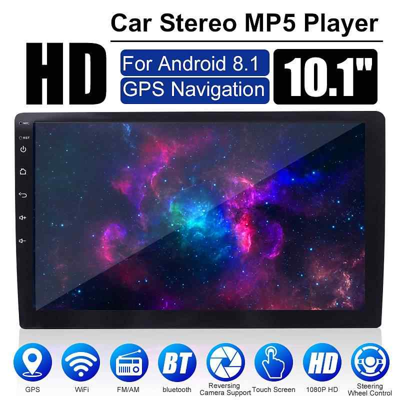 7/9/10,1 pulgadas Android 8,1 Universal Car estéreo 2DIN Quad Core WIFI GPS navegación Radio HD Video coche MP5 reproductor espejo enlace 1 + 16G