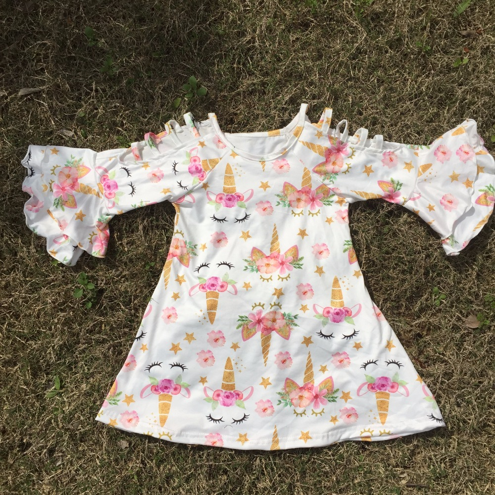 2018 new summer cotton milk silk baby girls kids boutique clothes dress short sets unicorn ruffles tops cute girl summer outfits 2016 summer baby child girls outfits ruffles shorts white striped watermelon boutique ruffles clothes kids matching headband set