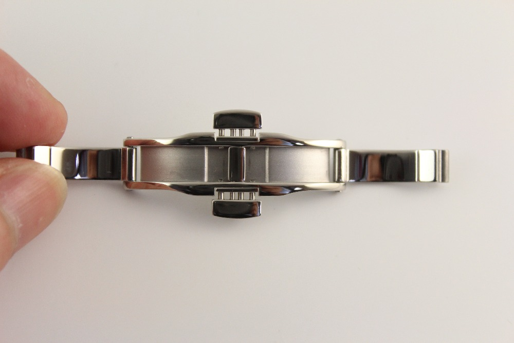 6x19mm Watch Strap Butterfly buckle Stainless steel clasp For T41 L264 Solid steel buckle Silver|butterfly buckle|watch strap butterfly|buckle stainless steel -