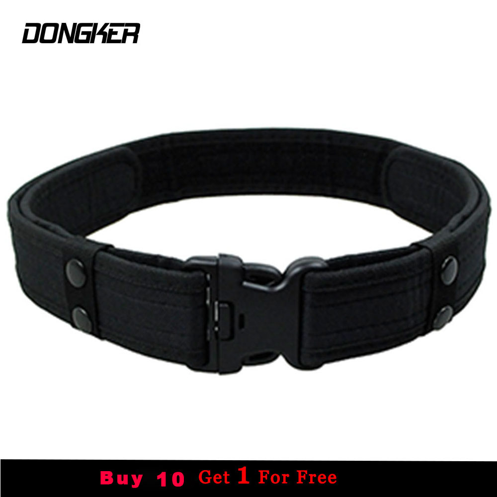 Combat 2 Inch Canvas Duty Tactical Sport Belt with Plastic Buckle Army Military Adjustable Outdoor Fan Hook & Loop Waistband rocotactical basketweave police duty belt web duty belt with loop liner