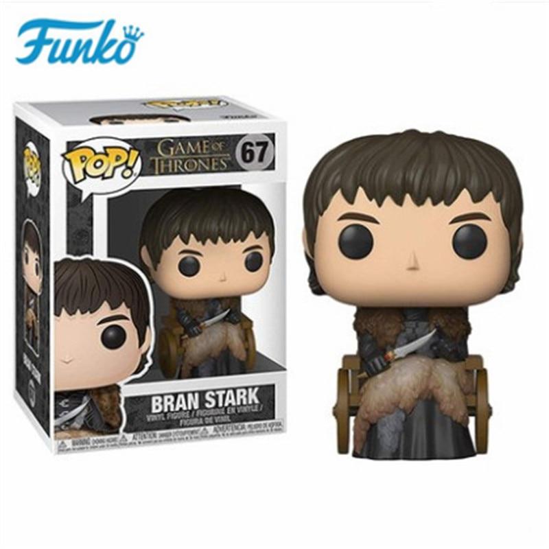 FUNKO POP TV Series Game of Thrones #67 Bran Stark Three-eyed Raven Skinchanger Model Figures Vinyl Doll Fans Birthday Gift Toys