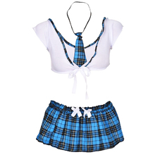 Women Lingerie Sexy Erotic Costumes Lenceria Sexy School Cosplay Student Uniform Halloween Role Playing Outfit Fancy Porno Sets