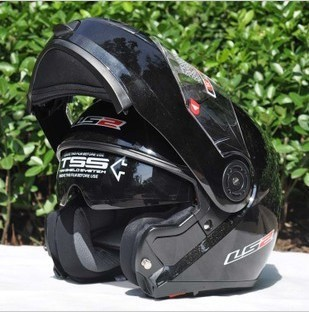 Free shipping double lens QuanKui dong jie face helmets motorcycle helmet LS2 helmet anti glare reduction lens version upgrade