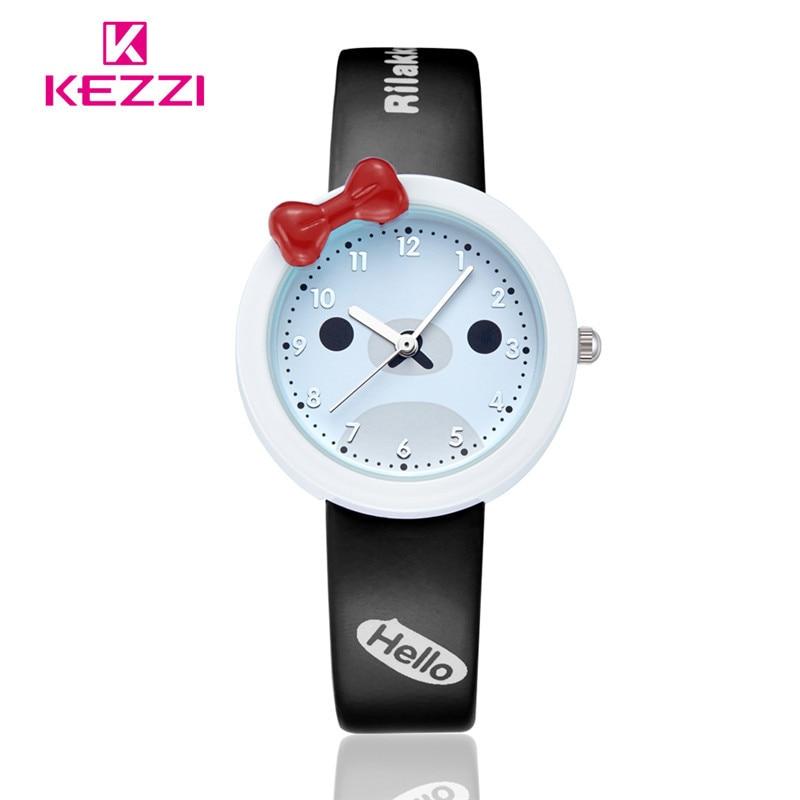 2016 Hot Sale kezzi Watch Fashion Cute Cartoon Watch Kids Leather Analog Quartz Watch Children Wristwatches Hour Gril Gift k447