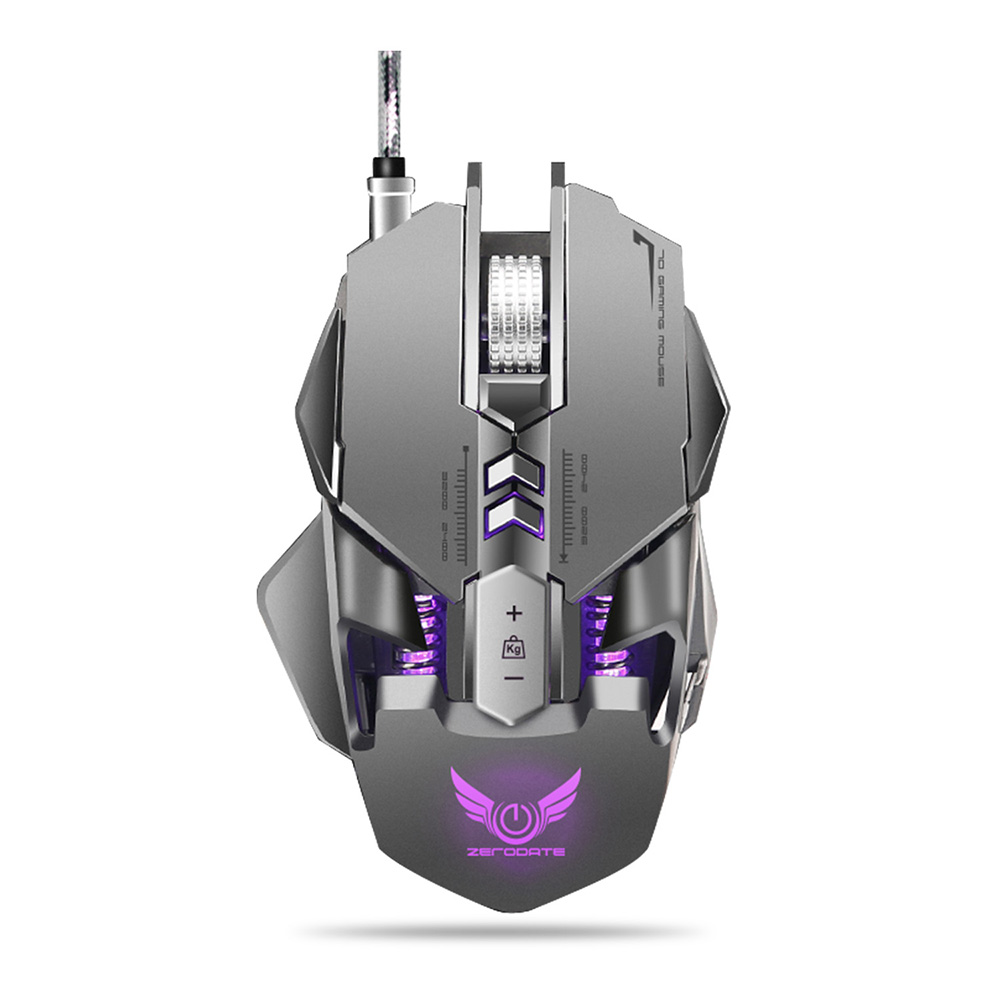 все цены на ZERODATE X300GY USB Wired Gaming Mouse with Adjustable DPI Beetle Creative Professional 3D Gaming Mouse RGB Cool Backlight Night