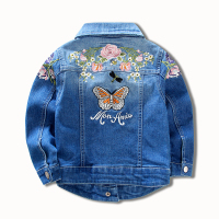 Girls Denim Jackets Coats Fashion Children Outwear Embroidery Sequins Children S Clothing Spring Autumn Kids Denim