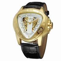 Luxury Men Automatic Self Wind Mechanical Wrist Watches Top Brand Triangle Golde Case White Dial Men's Watches Reloj Hombre