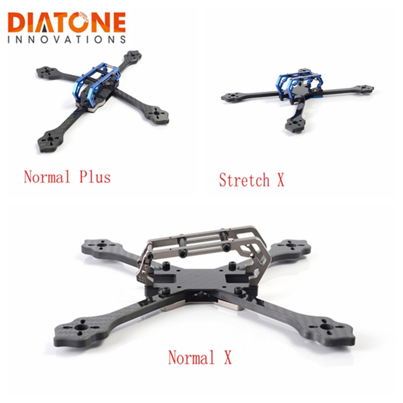 Diatone 2018 GT-M200 Normal Plus / Stretch X / Normal X FPV Racing Drone Frame Kit with 6mm Arm 2 Colors for 5 Inch Prop DIY Toy original diatone gt200n fpv normal x racing frame kit carbon fiber supports 2306 motor hs1177 5 inch prop 200mm width
