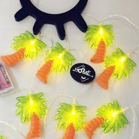 Christmas Cute Coconut Tree Palm String Lights Holiday LED Tropical Fruit Light Garden Decoration For Party
