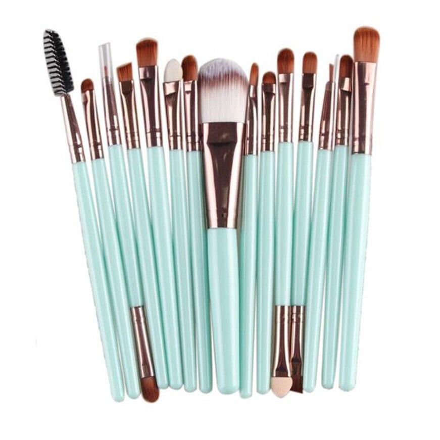 2017 15 unids de Cepillo Del Maquillaje herramientas maquillaje Kit del artículo
