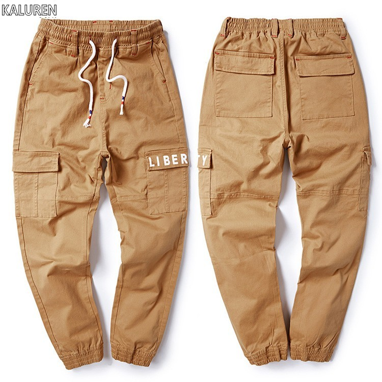Free shipping big size M-8xl plus men jeans cargo pants cotton male waist waist long tro ...