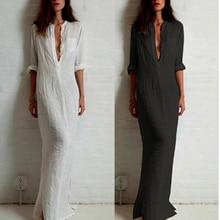 Fashion Vestidos 2016 Summer Women Sexy Casual font b Dress b font Long Sleeve Deep V