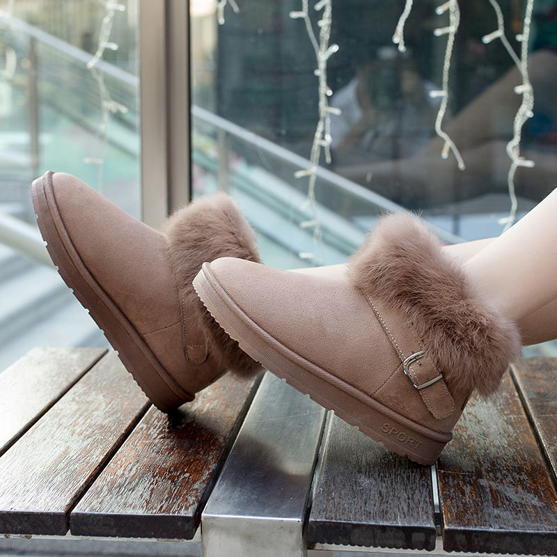 LAISUMK Women Winter Boots Mother Shoes Antiskid Waterproof Flexible Autumn Fashion Casual Snow