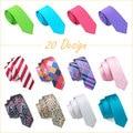 20 Estilos Moda Flaco Gravatas Lazos Delgados Lazos Para Hombre Corbatas de Seda Jacquard Corbatas Corbatas para Hombres Traje Cravate