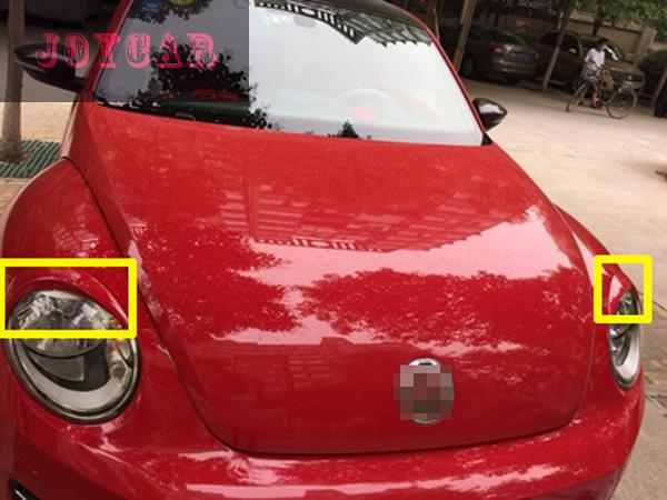 FOR VW BEETLE HEADLIGHT EYEBROWS EYELIDS TRIM COVER STICKER CAR ACCESSORIES : beetle door - pezcame.com