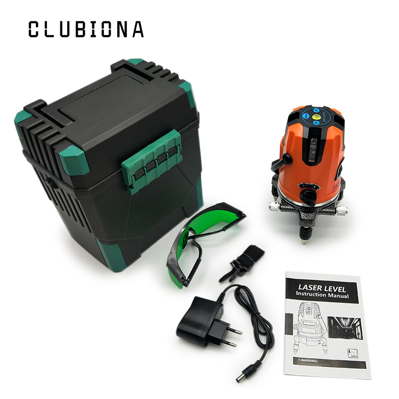 European standard plug 3 Lines 360 rotary cross laser line leveling can be used with outdoor receiver green Laser Level high quality southern laser cast line instrument marking device 4lines ml313 the laser level