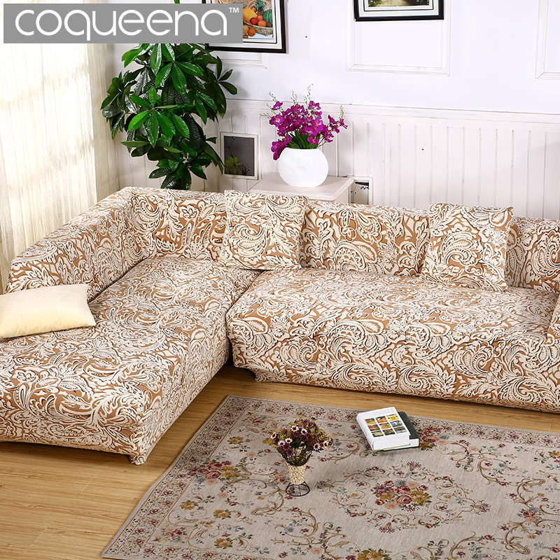 2 pcs Covers for Corner Sofa Sectional Couch Slipcovers