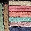 14 ярд / lot ручной поделки вышивка лепестки цветка хлопка кружевной отделкой аппликация laciness 5 см в ширину 8 цвета