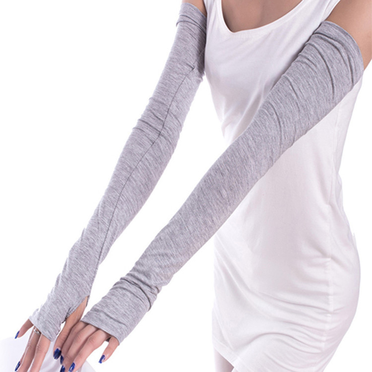 2018 Drop Shipping Women Girl Warm Arm Warmer Cotton Long Fingerless Gloves 6 Colors