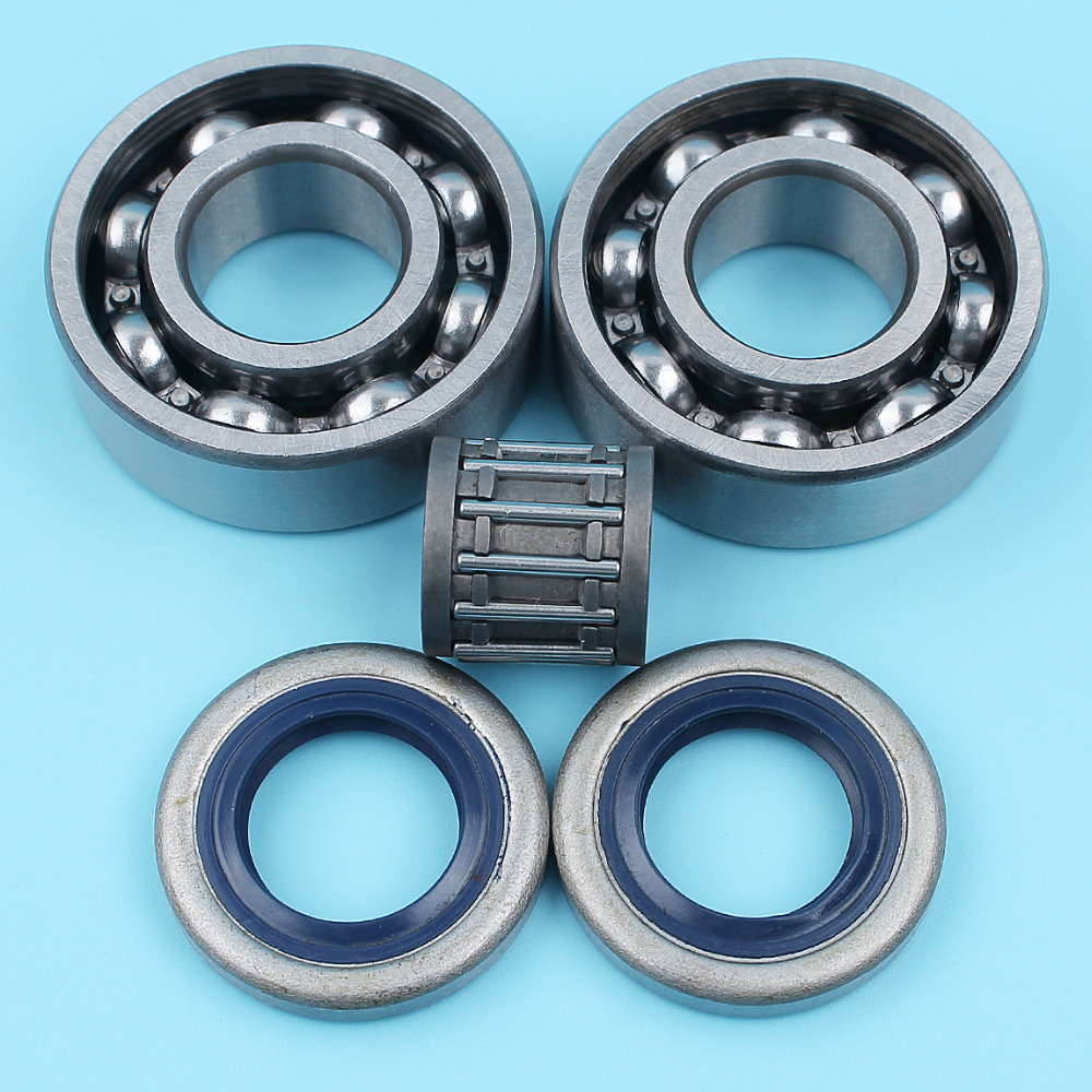 Crankshaft Ball Bearing Oil Seal Needle Cage Kit For Husqvarna 357 359 357XP Chainsaw 505 27 57-19,738 22 02-25