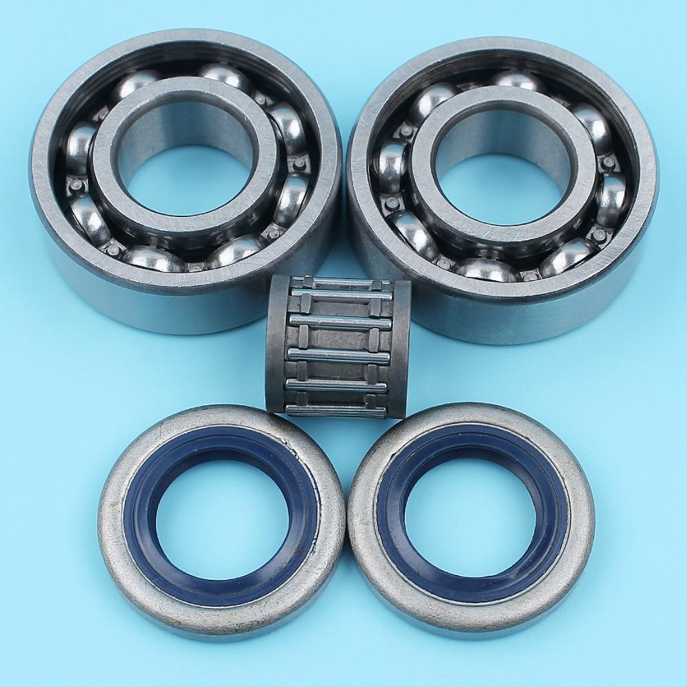 Crankshaft Ball Bearing Oil Seal Needle Cage Kit For Husqvarna 357 359 357XP Chainsaw 505 27 57-19,738 22 02-25