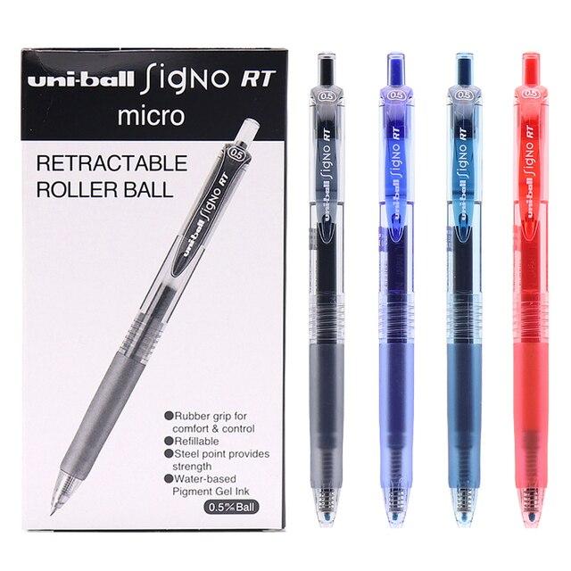 12 قطعة/صندوق Uniball UMN 105 Signo جل مجموعة أقلام قابل للسحب 0.5 مللي متر السلس الحبر Boligrafo غرامة هلام قلم الكرات الدوّارة اللوازم المدرسية
