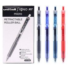 Juego de Gel de bolígrafos retráctiles, 12 unidades/caja, Uniball UMN 105, bolígrafo de tinta lisa de 0,5mm, bolígrafo de Gel fino, suministros escolares