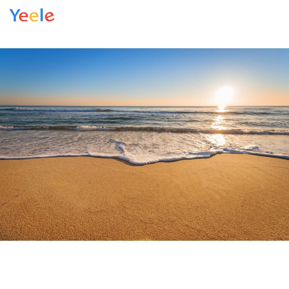 Yeele Beach Seaside Photography Backdrops Wedding For The Photo Studio Sunset Waves Scenery Customized Photographic Backgrounds