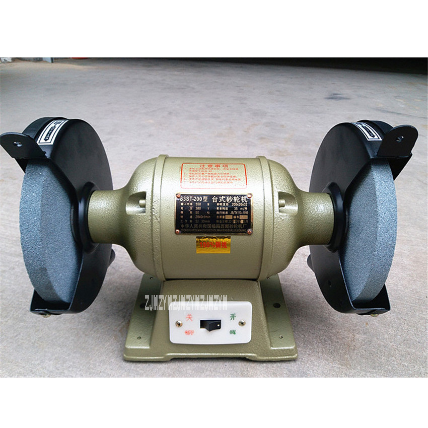 New arrival S3SAT 200 Bench Grinder Grinding Machine Electric Polishing Machine 220V / 380V 50 / 60Hz 550W 2840r / rpm 200mm Hot