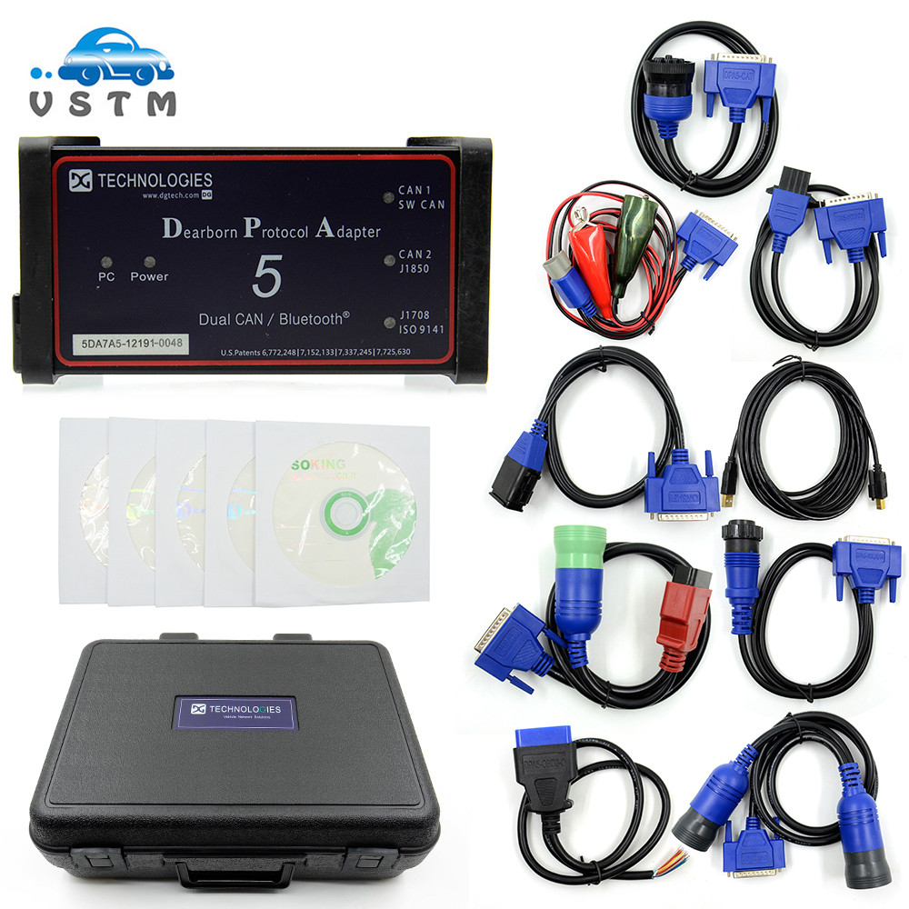 2019 Dpa5 Dearborn Protocol Adapter 5 Heavy Duty Truck Scanner New Released CNH DPA 5 Without Bluetooth Works For Multi brands-in Car Diagnostic Cables & Connectors from Automobiles & Motorcycles on