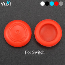 лучшая цена YuXi 2pcs Silicone Analog Stick Grips Caps for Nintend Switch NS JoyCon Controller Stick Skin Cover for Joy Con