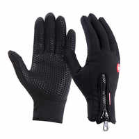 High Quality Men Women Winter Anti-slip Waterproof Fleece Touch Screen Gloves Outdoor Sports Cycling Working Thermal Tools
