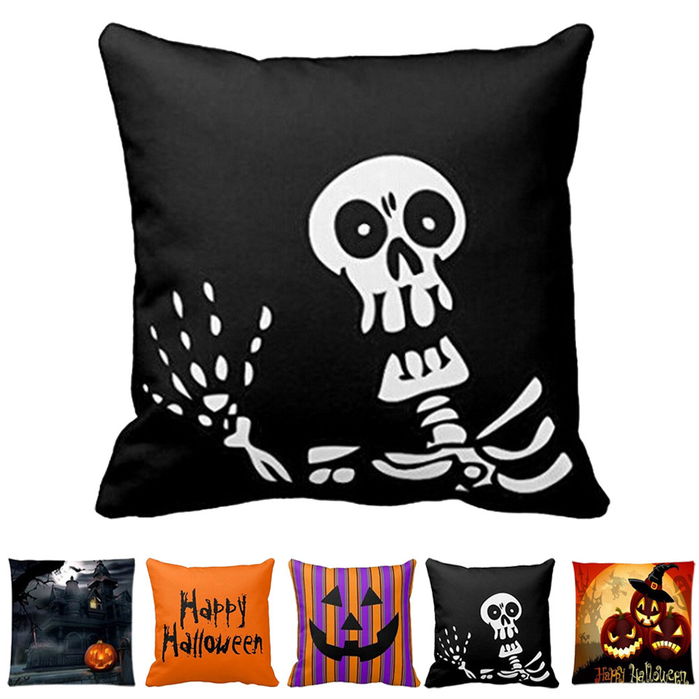 Halloween 45*45cm square shape  pillow case cover Witch Devil designpillowslip for All Saints' Day ornament pillowcase November