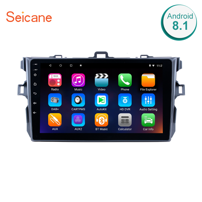 Seicane Car Radio For Toyota Corolla 2006 2007 2008 2009 2010 2011 2012 Android 6.0/7.1/8.1 9inch 2Din GPS Multimedia Player