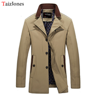 autumn men jacket new long section solid color simple casual jacket blue and wine red mens jackets and coats6831 plus size m 5XL
