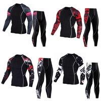 Rash Guard Long Sleeve Thermal Knitwear Sleeve Crossfit T Shirt Fitness Set Tights Men S Compression