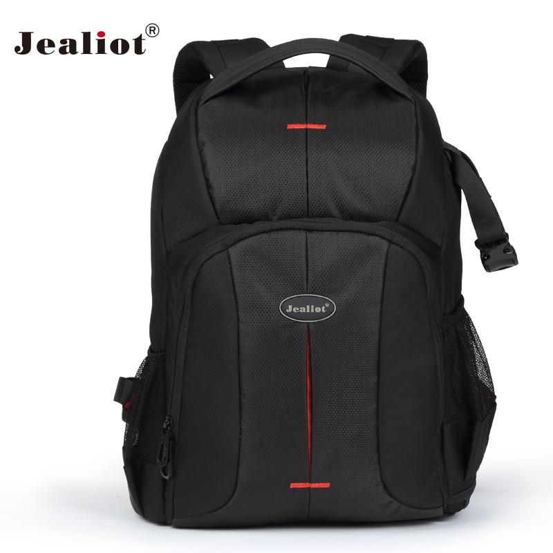 2017 Jealiot Multifunctional Professional Camera Bag Backpack waterproof shockproof digital Video Photo Bags case for DSLR Canon new pattern caden l5 camera backpack bag stylish nylon multifunction shockproof video photo bags fit for canon 50d 60d 100d 550d