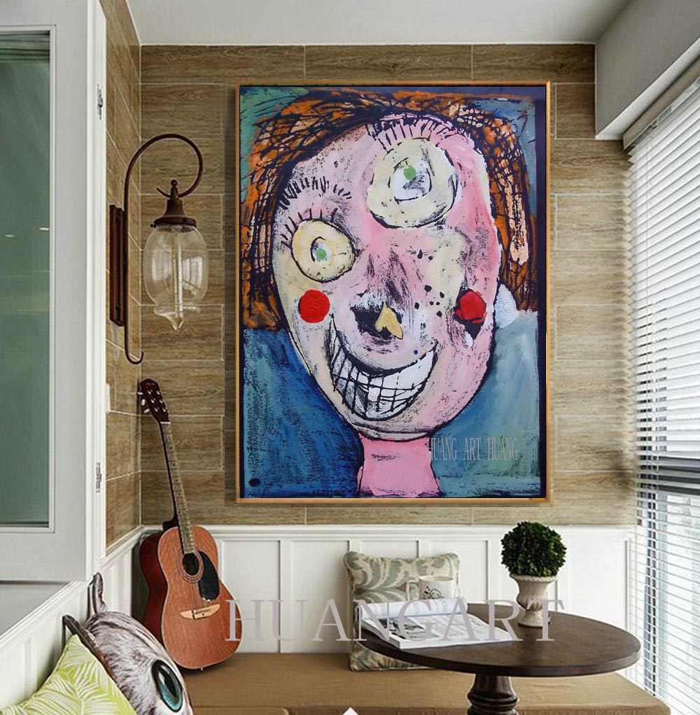 Art Decoration Class World Class Spanish Artist Picasso Character Original Oil Painting Decoration Lobby Sofa Porch Aisle Hotel Bedroom