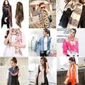OVO!2014 New Fashion autumn -summer ice silk Scarf women winter warm Tassel Scarf Wrap Shawl scarves Lovers 16styles