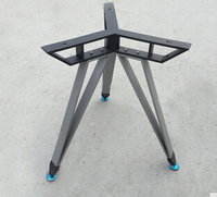 Round bracket. The square feet. The table legs. Glass table leg